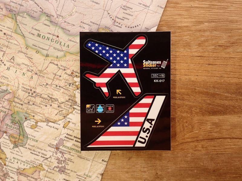 画像1: 【ネコポスOK】 機体国旗ステッカー AMERICA/アメリカ