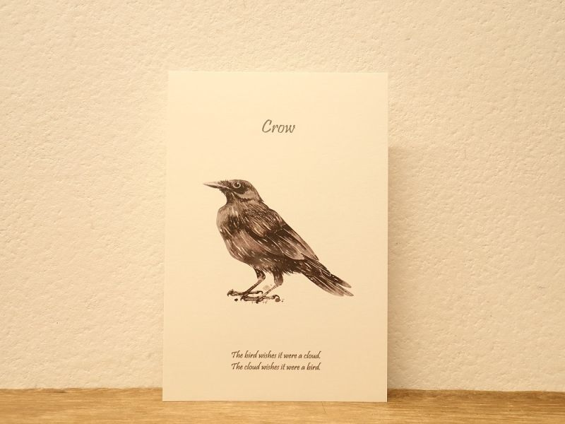 画像1: 【ネコポスOK】 BGM ポストカード Crow/カラス