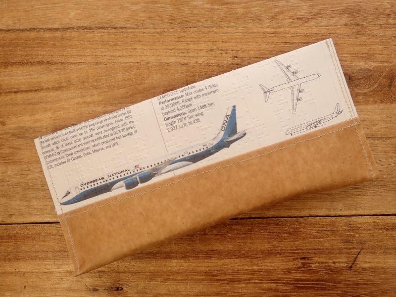画像3: 【ネコポスOK】 Quaint Design/クイントデザイン Robinson PEN&GLASSケース 飛行機 PAN AM