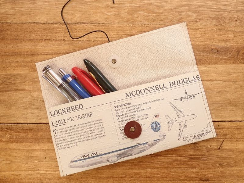画像4: 【ネコポスOK】 Quaint Design/クイントデザイン Robinson PEN&GLASSケース 飛行機 PAN AM