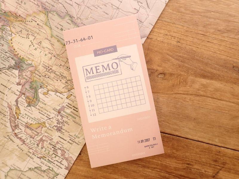 画像1: 【ネコポスOK】 MO CARD メモパッド MEMO