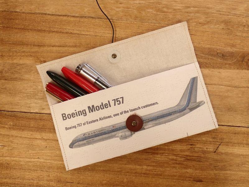 画像1: 【旅屋限定柄】【ネコポスOK】 Quaint Design/クイントデザイン Robinson PEN&GLASSケース 飛行機 EASTERN