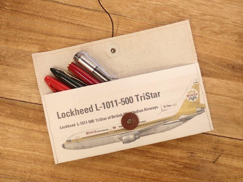 画像1: 【旅屋限定柄】【ネコポスOK】 Quaint Design/クイントデザイン Robinson PEN&GLASSケース 飛行機 BWIA