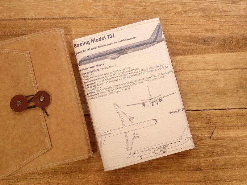 画像3: 【旅屋限定柄】【ネコポスOK】 Quaint Design/クイントデザイン Robinson 文庫ブックカバー 飛行機 EASTERN