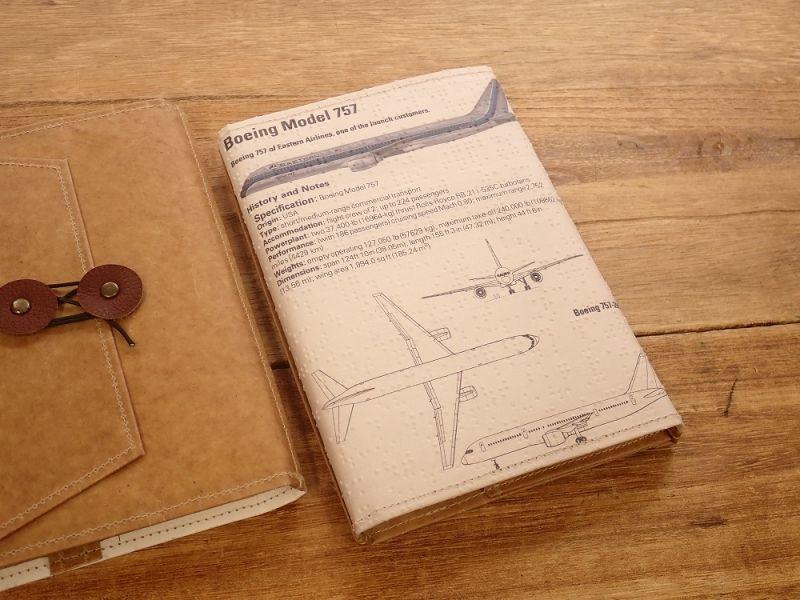 画像2: 【旅屋限定柄】【ネコポスOK】 Quaint Design/クイントデザイン Robinson 文庫ブックカバー 飛行機 EASTERN