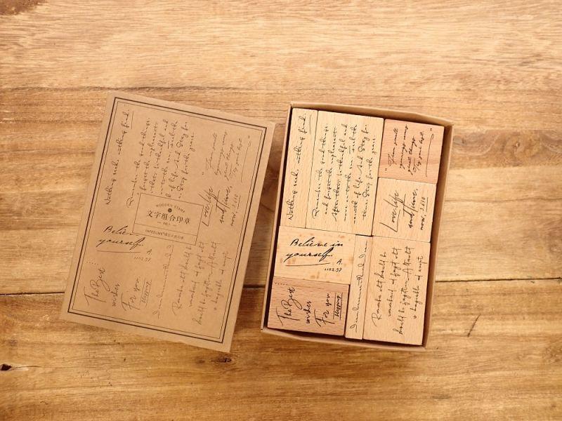 画像3: 【ネコポスNG】 スタンプセット 文字組合印章