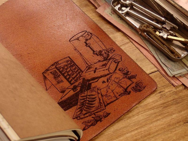 画像4: 【ネコポスNG】 生みたて卵屋 本革の旅手帳 ブラウン