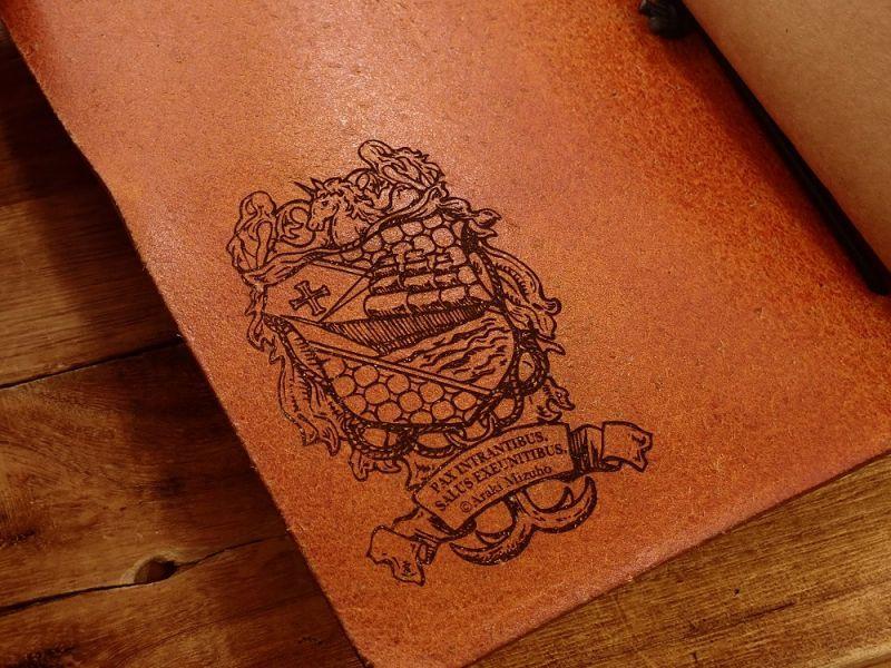 画像3: 【ネコポスNG】 生みたて卵屋 本革の旅手帳 ブラウン