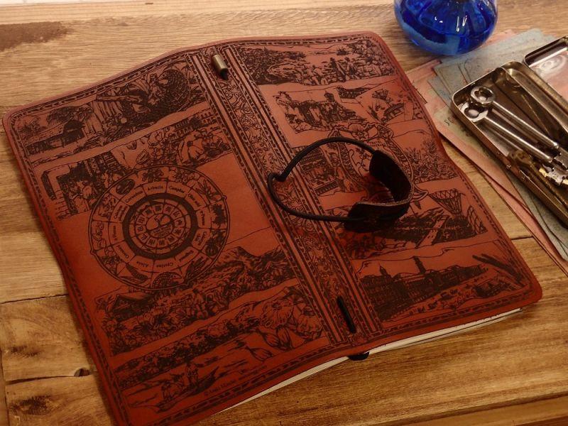 画像2: 【ネコポスNG】 生みたて卵屋 本革の旅手帳 ブラウン