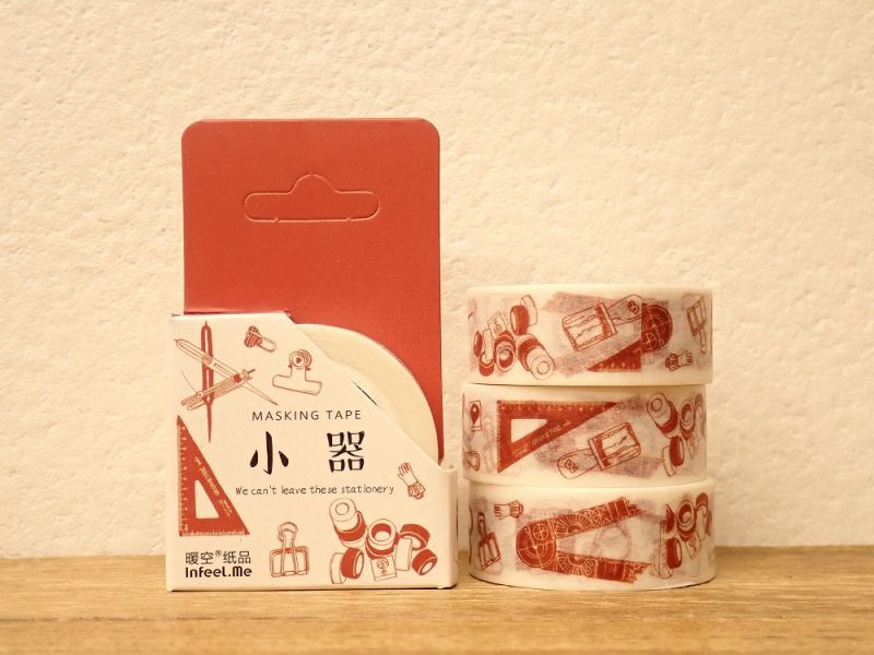 画像1: 【ネコポスOK】 INFEEL.ME マスキングテープ 小器
