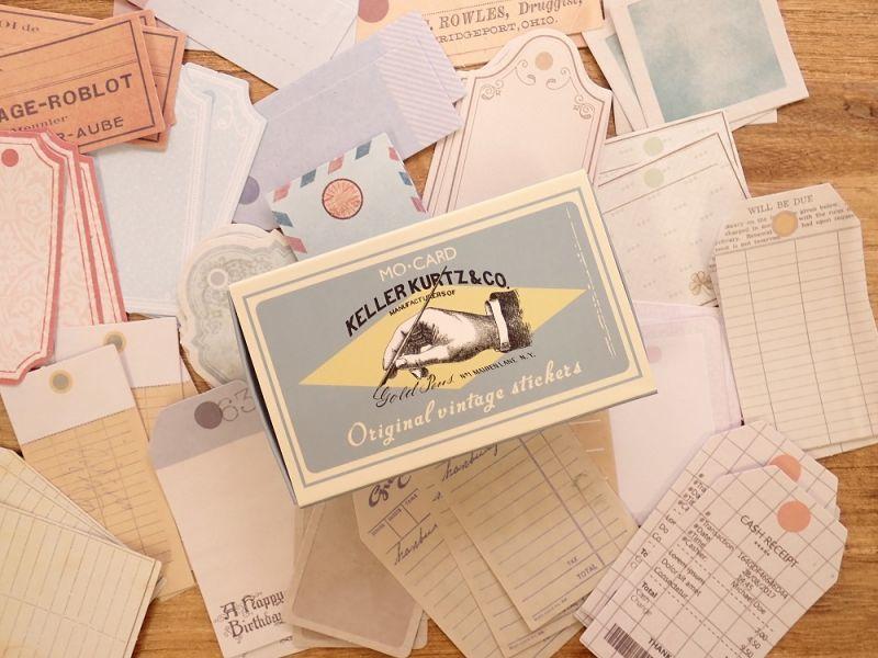 画像1: 【ネコポスOK】 MO・CARD ステッカー 老式吊牌/ヴィンテージタグ