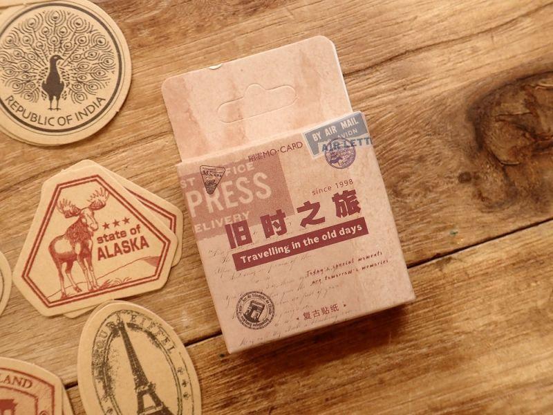 画像1: 【ネコポスOK】 MO・CARD ステッカー 旧时之旅 46枚入り