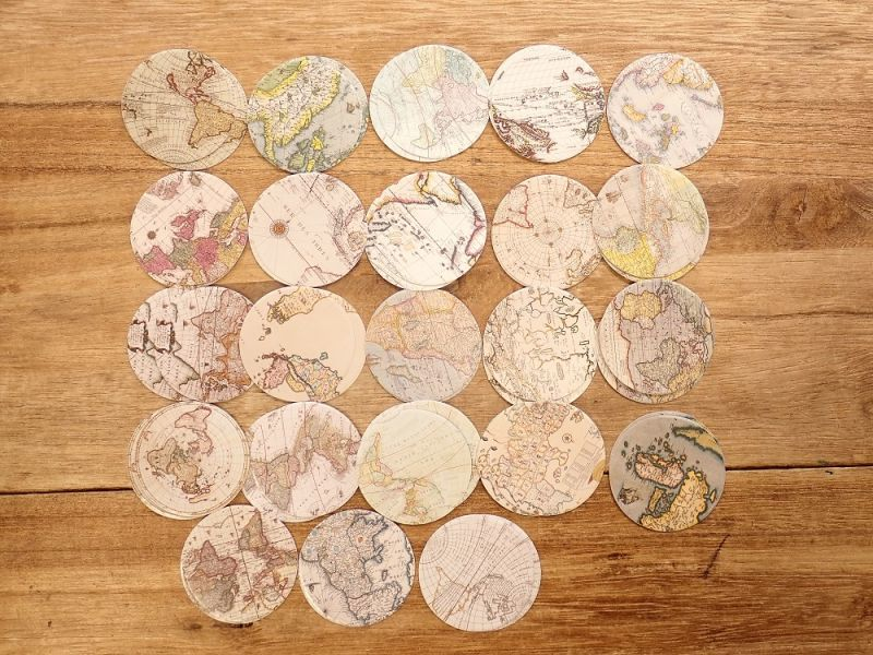 画像2: 【ネコポスOK】 MO・CARD ステッカー 復古半球 46枚入り