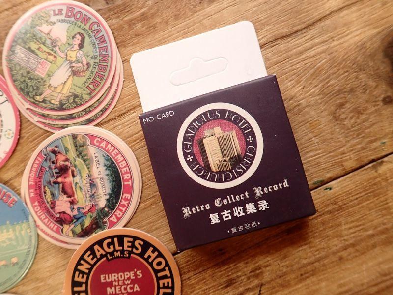画像1: 【ネコポスOK】 MO・CARD ステッカー 复古收集录 45枚入り