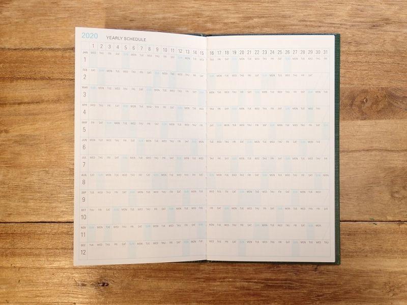 画像2: 【40%OFF】【ネコポスOK】 trystrams linklet 手帳2020 野帳 ハードカバー 月間ブロック