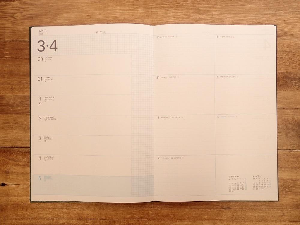 画像4: 【40%OFF】【ネコポスOK】 trystrams yraidB6 手帳2020 B6 ハードカバー 週間レフト