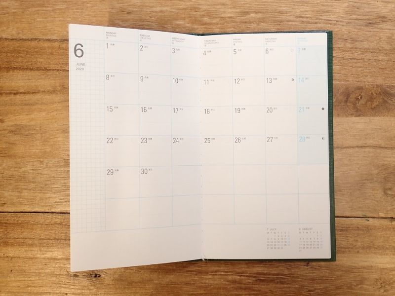 画像3: 【40%OFF】【ネコポスOK】 trystrams linklet 手帳2020 野帳 ハードカバー 月間ブロック