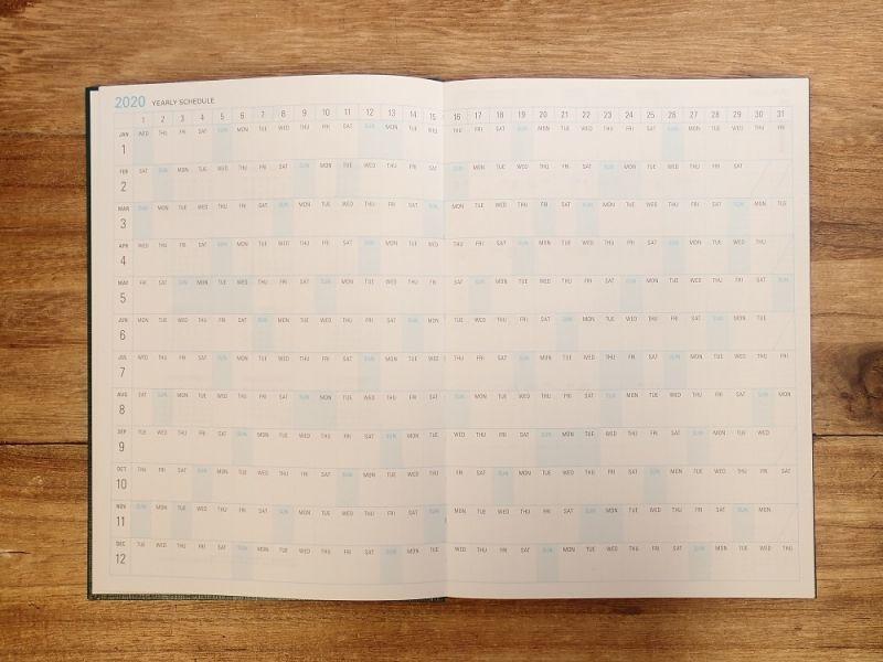 画像2: 【40%OFF】【ネコポスOK】 trystrams yraidB6 手帳2020 B6 ハードカバー 週間レフト