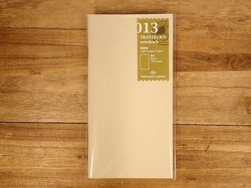 画像1: 【ネコポスOK】 トラベラーズノート リフィル レギュラー[013] 軽量紙