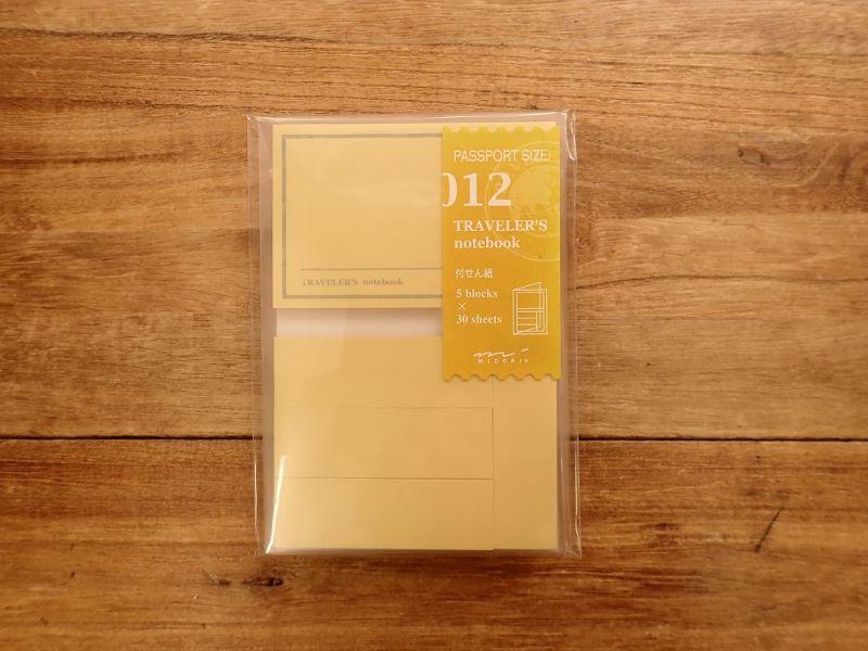 画像1: 【ネコポスOK】 トラベラーズノート リフィル パスポート [012] 付せん紙