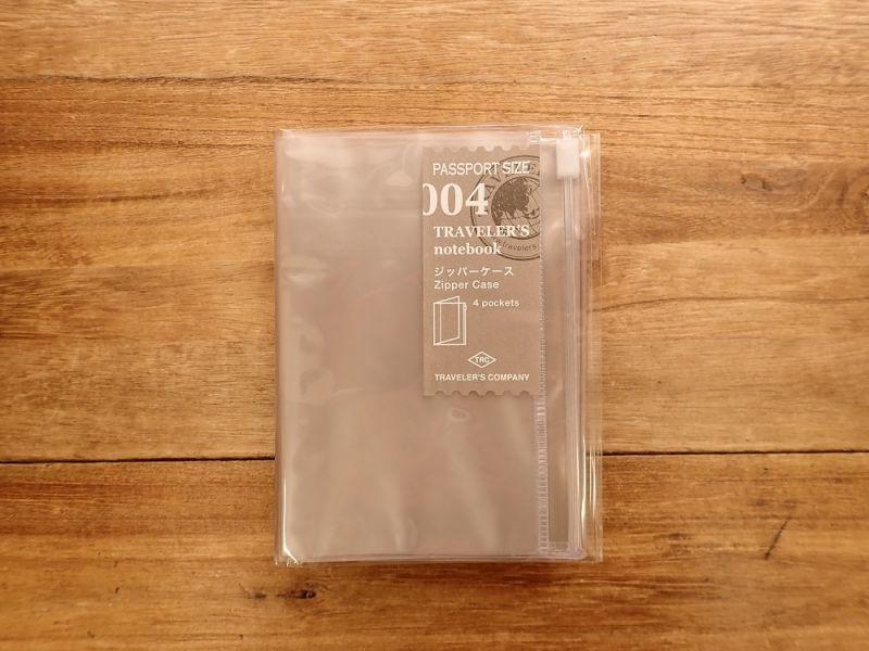 画像1: 【ネコポスOK】 トラベラーズノート リフィル パスポート [004] ジッパー