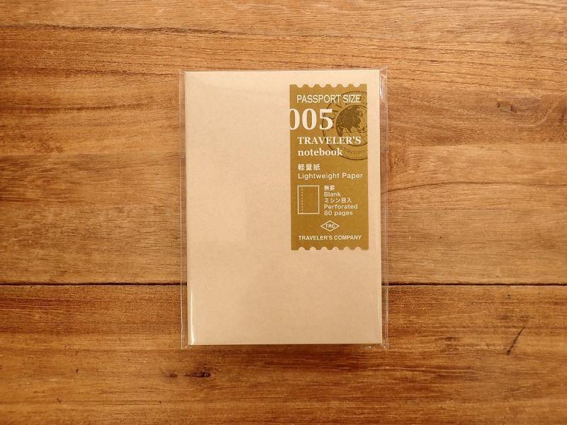 画像1: 【ネコポスOK】 トラベラーズノート リフィル パスポート [005] 軽量紙