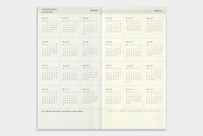 画像3: 【40%OFF】【ネコポスOK】 2020 トラベラーズノート ダイアリー 週間バーチカル