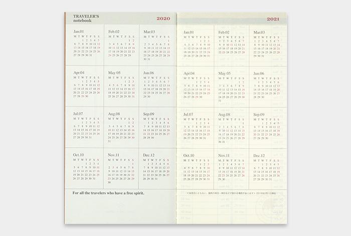 画像3: 【40%OFF】【ネコポスOK】 2020 トラベラーズノート ダイアリー 週間+メモ
