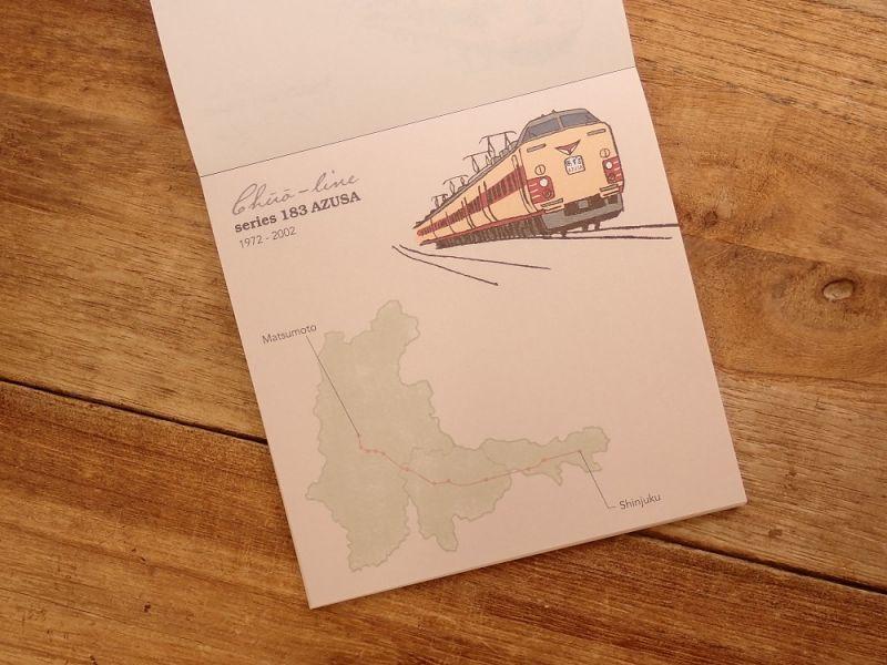 画像5: 【ネコポスOK】 鉄道クロニクル メモパッド・スクエア 中央線