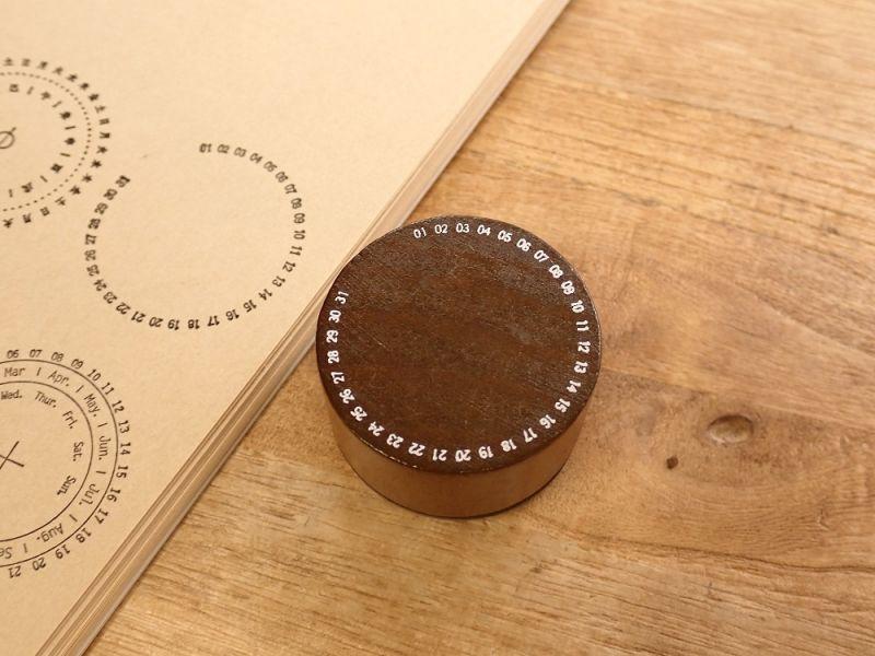 画像1: 【ネコポスNG】 スタンプ 万物有时印章 万年历/万年カレンダー