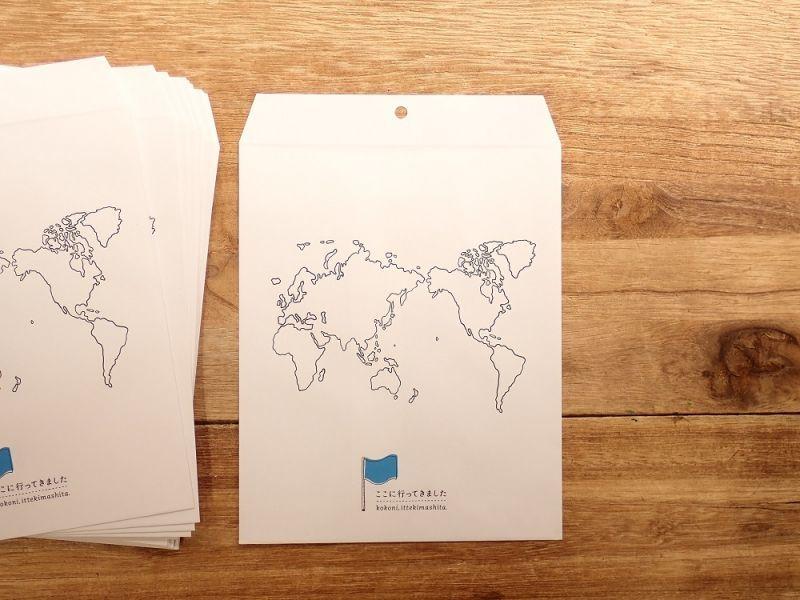 画像2: 【ネコポスOK】 お土産用小分け袋/ここに行ってきました WORLD
