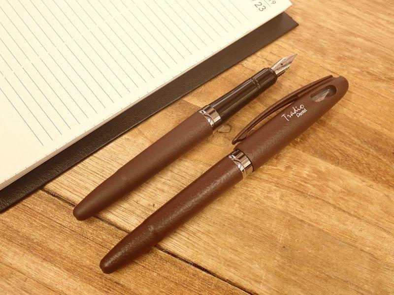 画像2: 【ネコポスOK】 Pentel Tradio Fountain Pen/万年筆 チョコレート