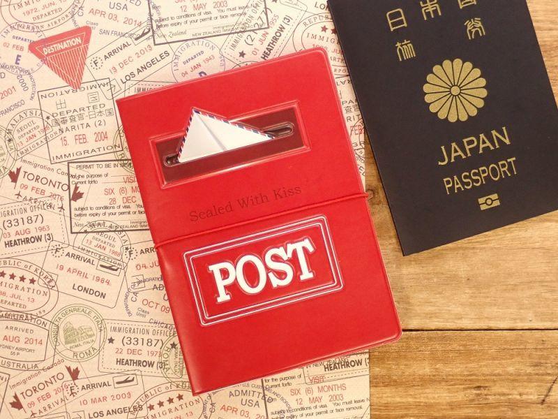 画像1: 【ネコポスOK】 パスポートカバー ポスト