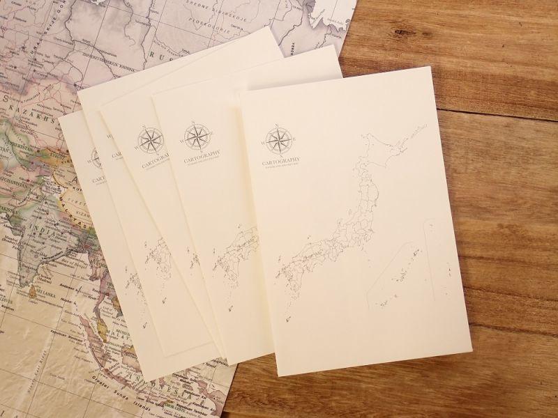 画像1: 【ネコポスOK】 大人の白地図 カルトグラフィー ENVELOPE 二ホン M