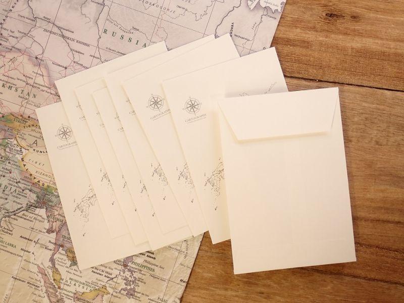 画像2: 【ネコポスOK】 大人の白地図 カルトグラフィー ENVELOPE 二ホン S