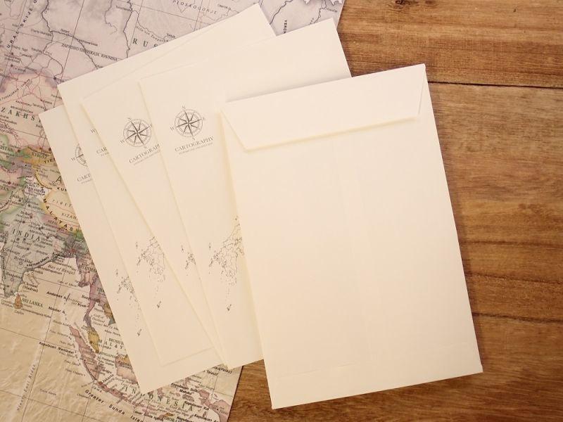 画像3: 【ネコポスOK】 大人の白地図 カルトグラフィー ENVELOPE 二ホン M
