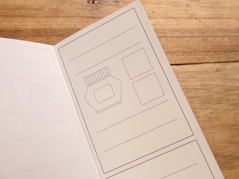 画像2: 【ネコポスOK】 kamiterior 小型ノート inknocci インクボトル