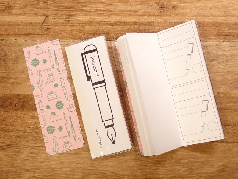画像1: 【ネコポスOK】 kamiterior 小型ノート inknocci 万年筆