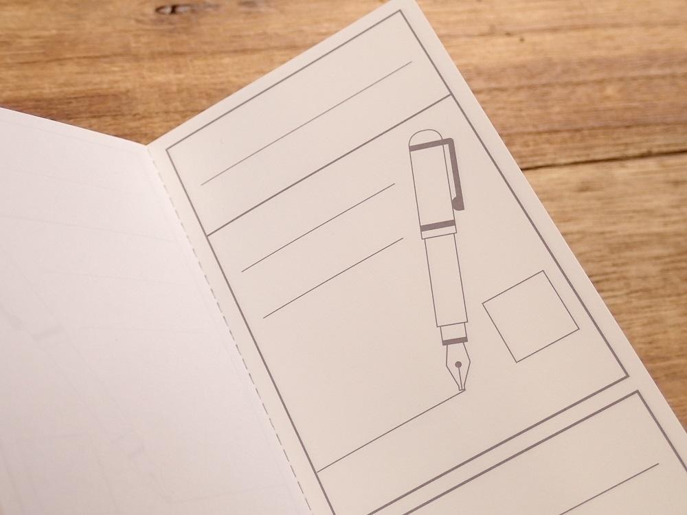 画像2: 【ネコポスOK】 kamiterior 小型ノート inknocci 万年筆