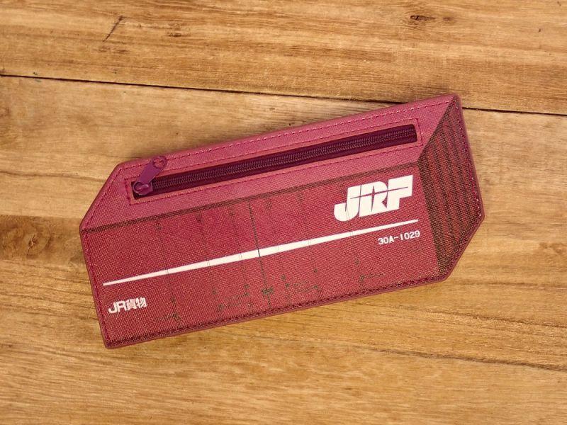 画像2: 【ネコポスOK】 ぺったんこペンケース JR貨物コンテナ30A