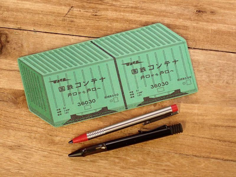 画像3: 【ネコポスOK】 ぺったんこペンケース 国鉄コンテナ