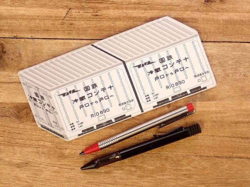 画像4: 【ネコポスOK】 ぺったんこペンケース 国鉄冷蔵コンテナ