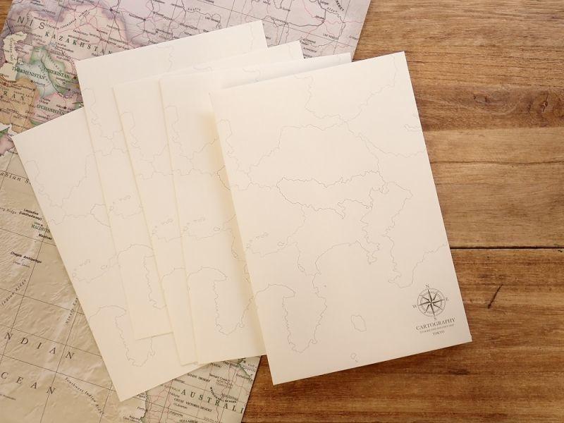 画像1: 【ネコポスOK】【限定品】 大人の白地図 カルトグラフィー ENVELOPE 東京エリア