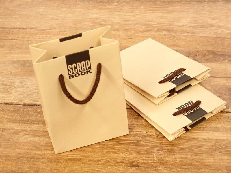 画像1: 【ネコポスOK】 レトロブング ミニ紙袋 3枚入り  スクラップブック柄