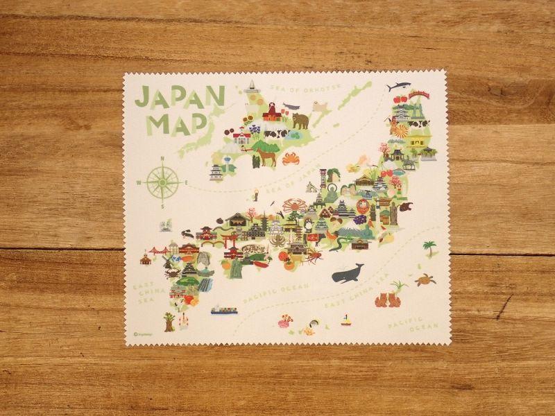 画像2: 【ネコポスOK】 旅クロス マイクロファイバークリーナー ジャパンマップ
