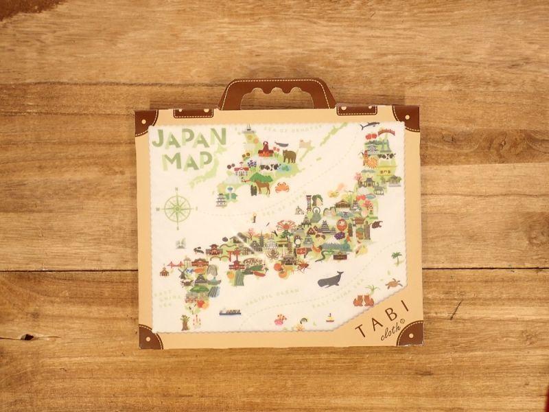 画像1: 【ネコポスOK】 旅クロス マイクロファイバークリーナー ジャパンマップ