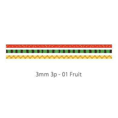 画像2: 【ネコポスOK】 decollections/デコレクションズ マスキングテープ 3個セット Fruit