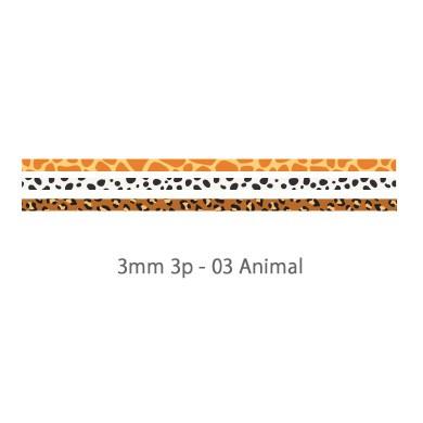 画像2: 【ネコポスOK】 decollections/デコレクションズ マスキングテープ 3個セット Animal