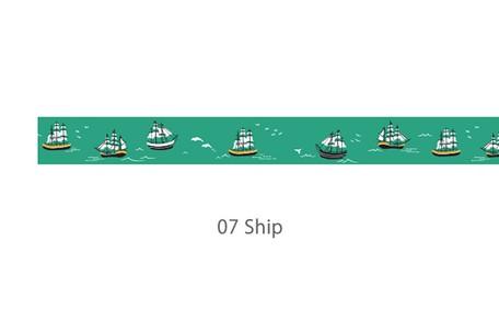 画像2: 【ネコポスNG】 decollections/デコレクションズ マスキングテープ Ship