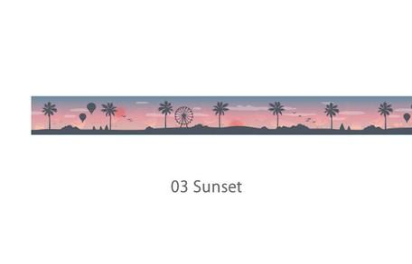 画像2: 【ネコポスNG】 decollections/デコレクションズ マスキングテープ Sunset